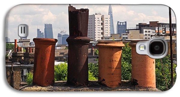 Victorian London Chimney Pots Galaxy S4 Case by Rona Black