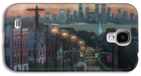 Trade Galaxy S4 Cases - Victory Boulevard at Dawn Galaxy S4 Case by Sarah Yuster