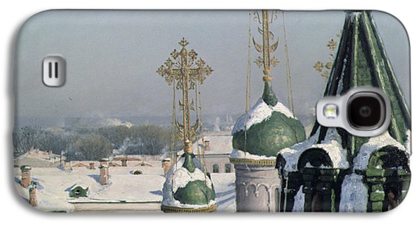 View From A Window Of The Moscow School Of Painting Galaxy S4 Case by Sergei Ivanovich Svetoslavsky