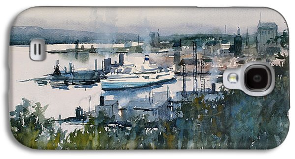 Harbor Paintings Galaxy S4 Cases - View from Above Galaxy S4 Case by Ryan Radke