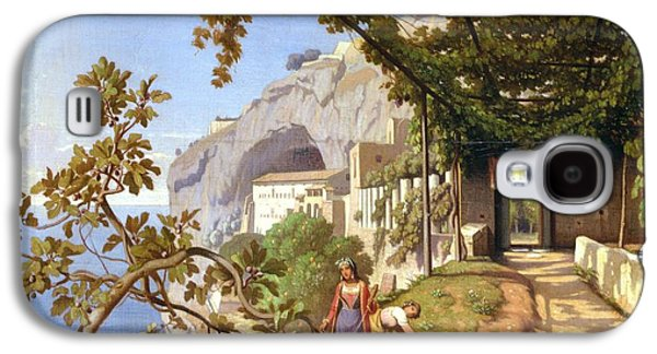Italian Wine Paintings Galaxy S4 Cases - View of Capri Galaxy S4 Case by Theodore Aligny