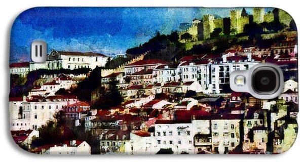 Portuguese Mixed Media Galaxy S4 Cases - View of Lisbon Galaxy S4 Case by Dariusz Gudowicz