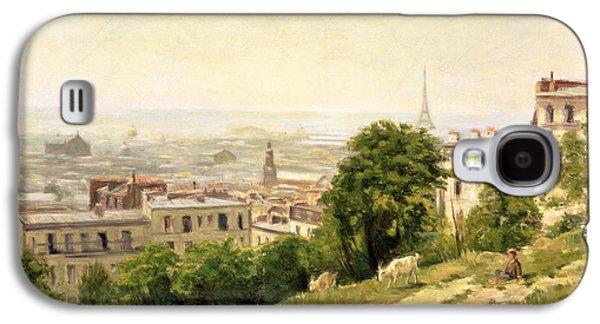 View Of Paris Galaxy S4 Case by Stanislas Victor Edouard Lepine