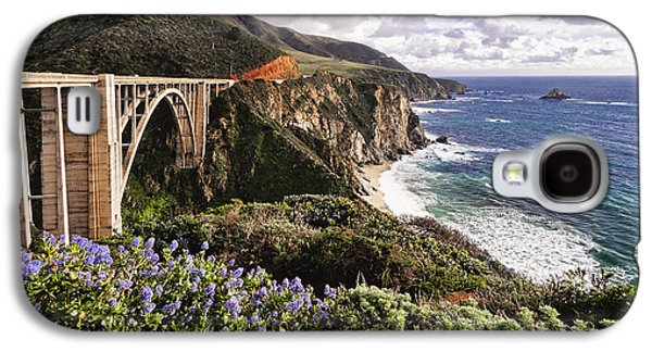 Bixby Bridge Galaxy S4 Cases - View of The Bixby Creek Bridge Big Sur California Galaxy S4 Case by George Oze