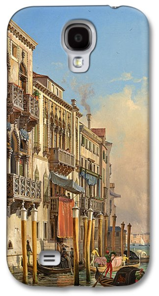 Desdemona Galaxy S4 Cases - View of the Palazzetto Contarini pheasant conditions Galaxy S4 Case by Celestial Images