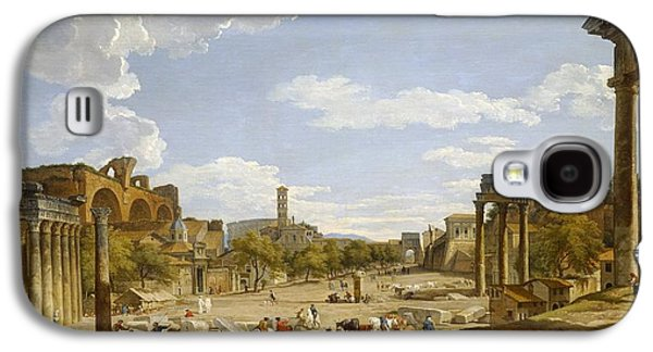 View Of The Roman Forum Galaxy S4 Case by Giovanni Paolo Panini