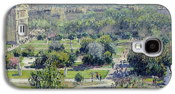 View Of The Tuileries Gardens Galaxy S4 Case by Claude Monet