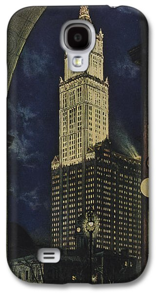 Building Drawings Galaxy S4 Cases - View Of The Woolworth Building Galaxy S4 Case by American School