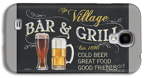 Cold Paintings Galaxy S4 Cases - Village Bar and Grill Galaxy S4 Case by Debbie DeWitt