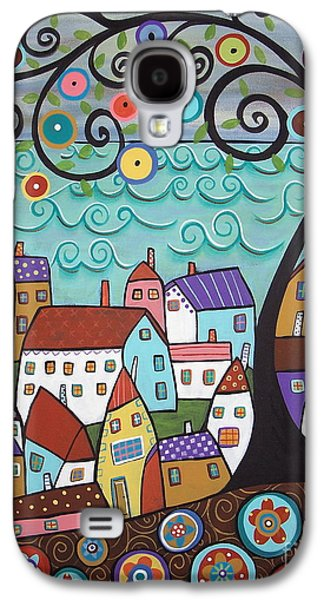 Art Sale Galaxy S4 Cases - Village By The Sea Galaxy S4 Case by Karla Gerard