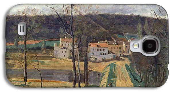 Pathway Paintings Galaxy S4 Cases - Ville dAvray Galaxy S4 Case by Jean Baptiste Camille Corot