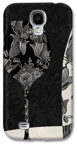 Red Wine Prints Galaxy S4 Cases - Vin Elegant Galaxy S4 Case by Mindy Sommers