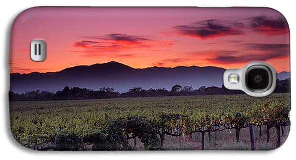 Vineyard At Sunset, Napa Valley Galaxy S4 Case by Panoramic Images