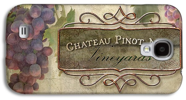 Upscale Galaxy S4 Cases - Vineyard Series - Chateau Pinot Noir Vineyards Sign Galaxy S4 Case by Audrey Jeanne Roberts