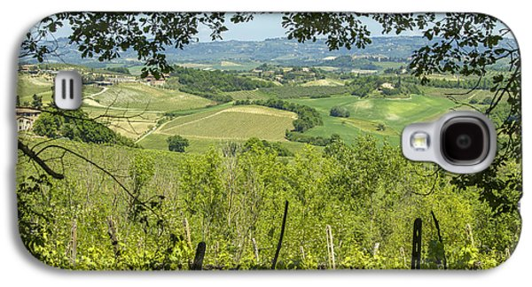 Tuscan Sunset Galaxy S4 Cases - Vineyards in Tuscany landscape Galaxy S4 Case by Patricia Hofmeester