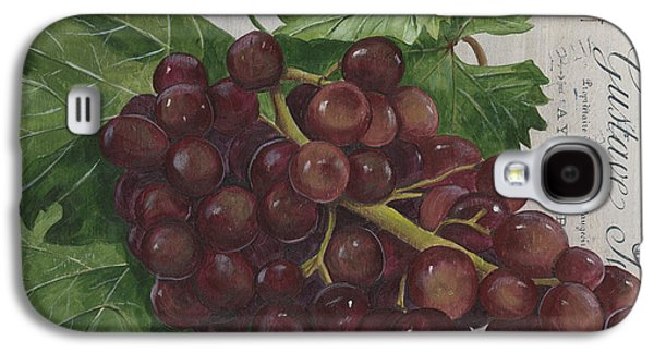 Grape Leaf Galaxy S4 Cases - Vins de Champagne Galaxy S4 Case by Debbie DeWitt