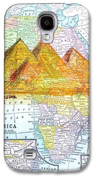 Vintage African Map Galaxy S4 Case by Scott D Van Osdol