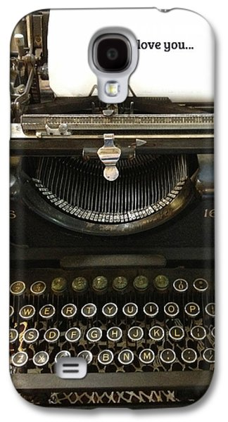 Typewriter Keys Photographs Galaxy S4 Cases - Vintage Antique Typewriter - Inspirational Vintage Typewriter  Galaxy S4 Case by Kathy Fornal