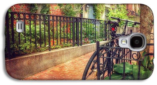 Transportation Photographs Galaxy S4 Cases - Vintage Beacon Hill Art - Boston Galaxy S4 Case by Joann Vitali