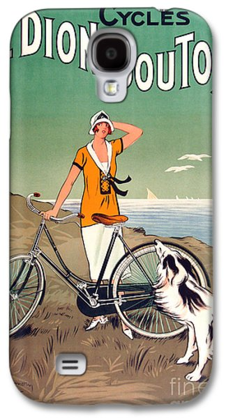 Vintage Bicycle Advertising Galaxy S4 Case by Mindy Sommers