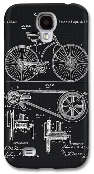 Vintage Bicycle Patent Illustration 1890 Galaxy S4 Case by Tina Lavoie