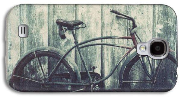 Vintage Bike Polaroid Transfer Galaxy S4 Case by Jane Linders