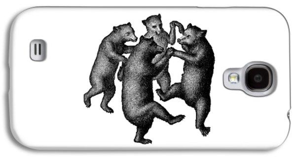 Vintage Dancing Bears Galaxy S4 Case by Edward Fielding