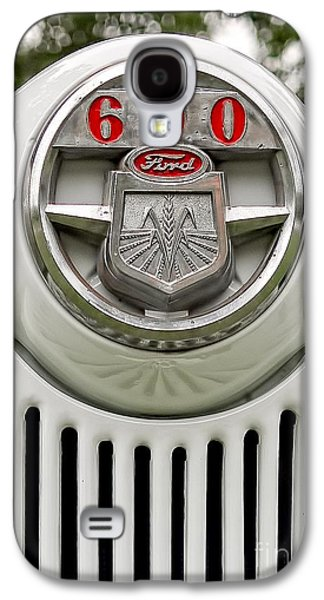 Vintage Ford 600 Nameplate Emblem Galaxy S4 Case by Edward Fielding