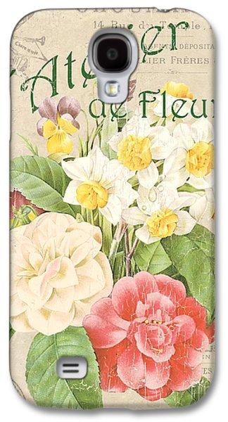 Vintage French Flower Shop 1 Galaxy S4 Case by Debbie DeWitt