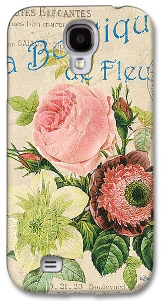 Vintage French Flower Shop 2 Galaxy S4 Case by Debbie DeWitt