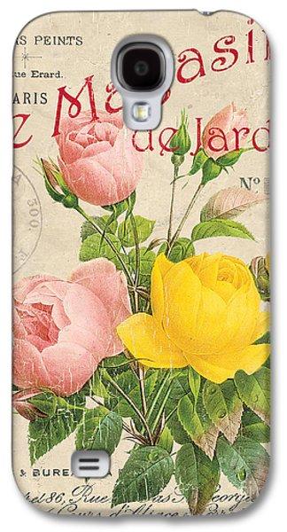 Vintage French Flower Shop 3 Galaxy S4 Case by Debbie DeWitt