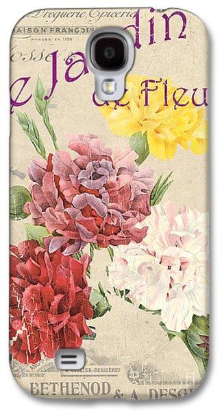 Vintage French Flower Shop 4 Galaxy S4 Case by Debbie DeWitt