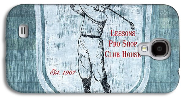 Hit Galaxy S4 Cases - Vintage Golf Blue 1 Galaxy S4 Case by Debbie DeWitt