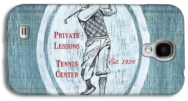 Hit Galaxy S4 Cases - Vintage Golf Blue 2 Galaxy S4 Case by Debbie DeWitt