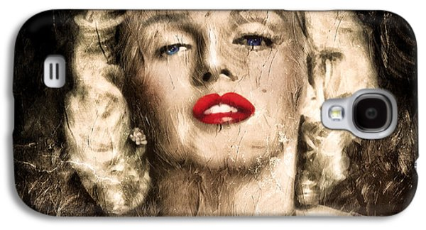 Abstract Digital Mixed Media Galaxy S4 Cases - Vintage Grunge Goddess Marilyn Monroe  Galaxy S4 Case by Georgiana Romanovna