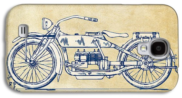 Vintage Harley-davidson Motorcycle 1919 Patent Artwork Galaxy S4 Case by Nikki Smith