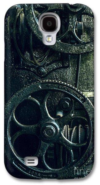 Vintage Industrial Wheels Galaxy S4 Case by Carlos Caetano