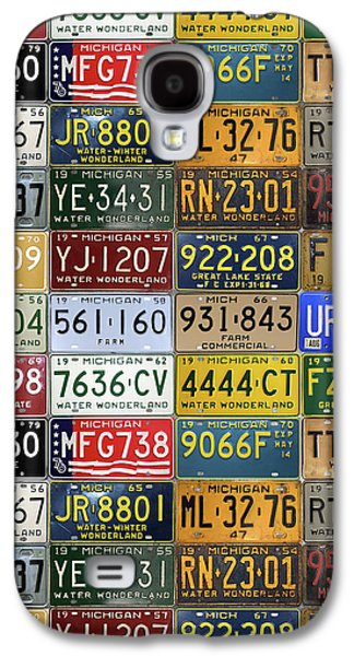 Vintage License Plates From Michigan's Rich Automotive Past Galaxy S4 Case by Design Turnpike