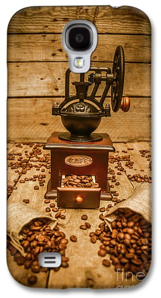 Vintage Manual Grinder And Coffee Beans Galaxy S4 Case by Jorgo Photography - Wall Art Gallery