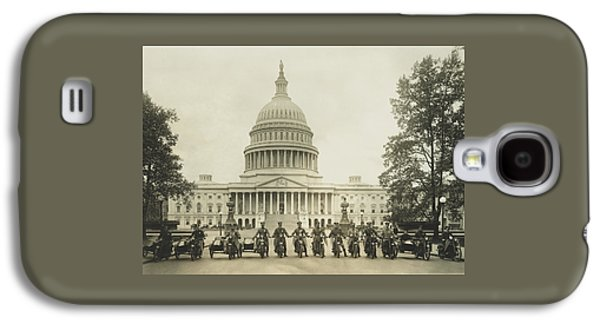 Vintage Motorcycle Police - Washington Dc  Galaxy S4 Case by War Is Hell Store