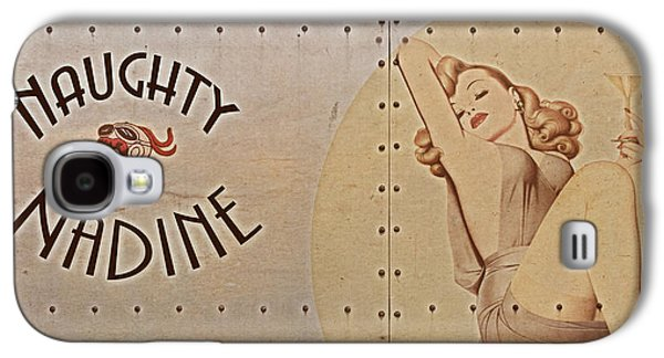 World War 2 Galaxy S4 Cases - Vintage Nose Art Naughty Nadine Galaxy S4 Case by Cinema Photography