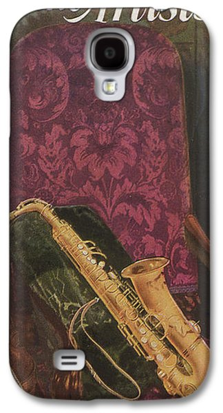Chair Drawings Galaxy S4 Cases - Vintage Poster Galaxy S4 Case by American School