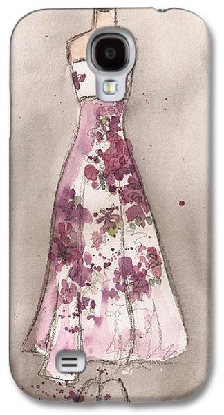 Strapless Dress Galaxy S4 Cases - Vintage Romance Dress Galaxy S4 Case by Lauren Maurer