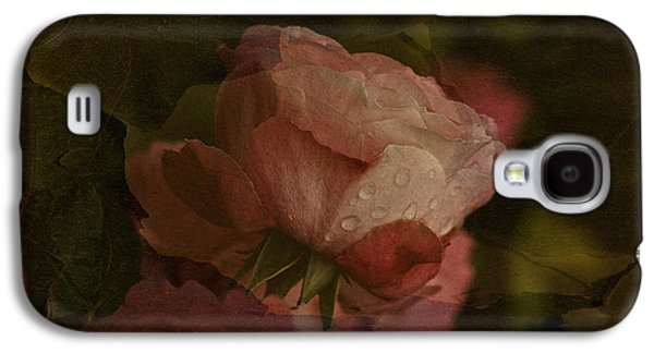 Macro Tapestries - Textiles Galaxy S4 Cases - Vintage Rose with Droplets Galaxy S4 Case by Richard Cummings