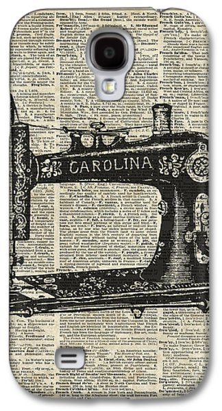 Working Mixed Media Galaxy S4 Cases - Vintage Sewing machine Galaxy S4 Case by Jacob Kuch