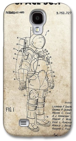 Vintage Space Suit Patent Galaxy S4 Case by Dan Sproul