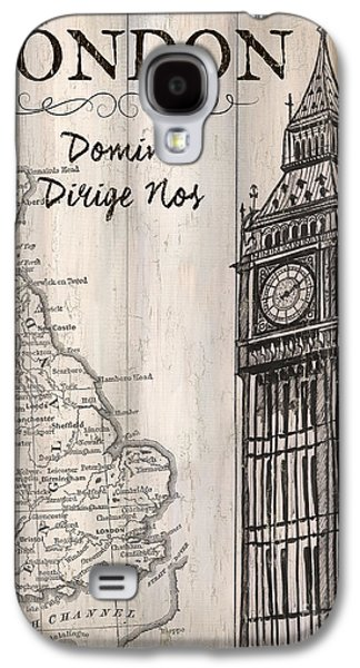Vintage Travel Poster London Galaxy S4 Case by Debbie DeWitt