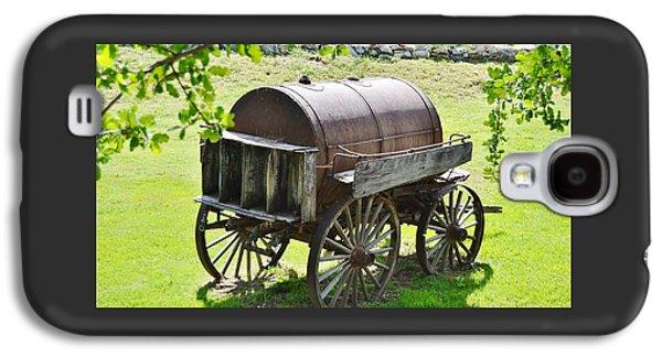 Vintage Water Barrel Cart  Galaxy S4 Case by Cherie Cokeley