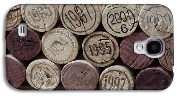 Canvas Wine Prints Galaxy S4 Cases - Vintage Wine Corks Galaxy S4 Case by Frank Tschakert