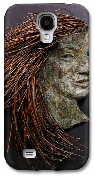Relief Sculpture Galaxy S4 Cases - Violet a relief sculpture by Adam Long Galaxy S4 Case by Adam Long